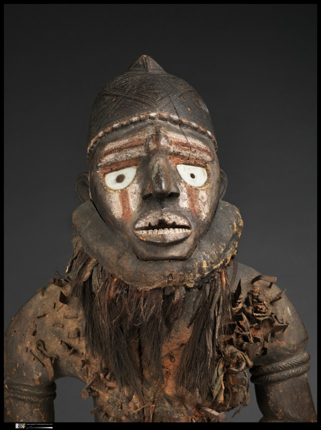 Power Figure (Nkisi N'Kondi: Mangaaka) Kongo peoples; Yombe group, Chiloango River region, Democratic Republic of the Congo. Photo: © RMCA, Tervuren, photograph by Peter Zeray.