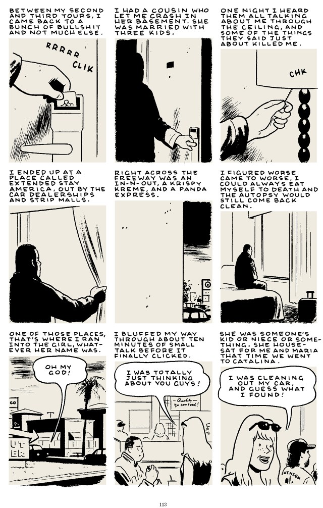 Excerpt from Tomine's 'Killing and Dying' (click to enlarge)