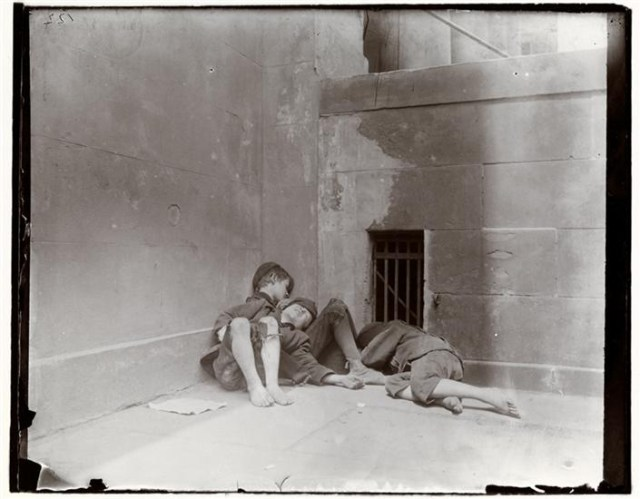 """""""Street Arabs in Night Quarters,"""" photo by Jacob A. Riis (1888-1889) (courtesy Museum of the City of New York, Gift of Roger William Riis)"""