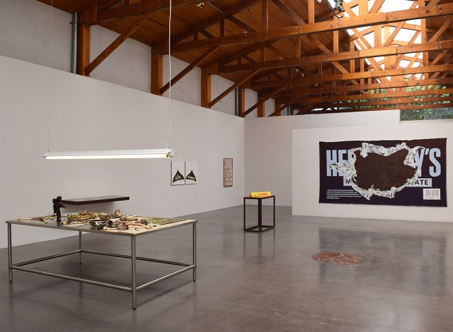 Installation view of Minerva Cuervas's 'Feast and Famine' at Kurimanzutto (all photos by the author)