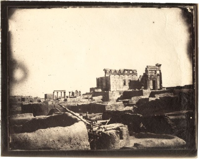 Temple of Bel, Palmyra, Syria, albumen print, 1864 (negative by Louis Vignes, photograph printed by Charles Nègre)