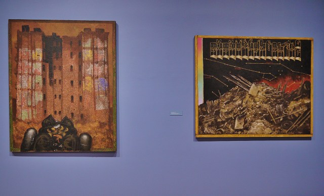 """Martin Wong, left: """"Big Heat"""" (1988); right: TK (click to enlarge)"""