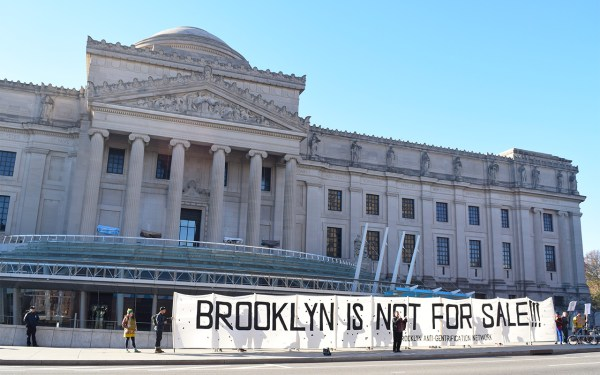 Anti-gentrification Activists Protest Real Estate Summit Brooklyn Museum