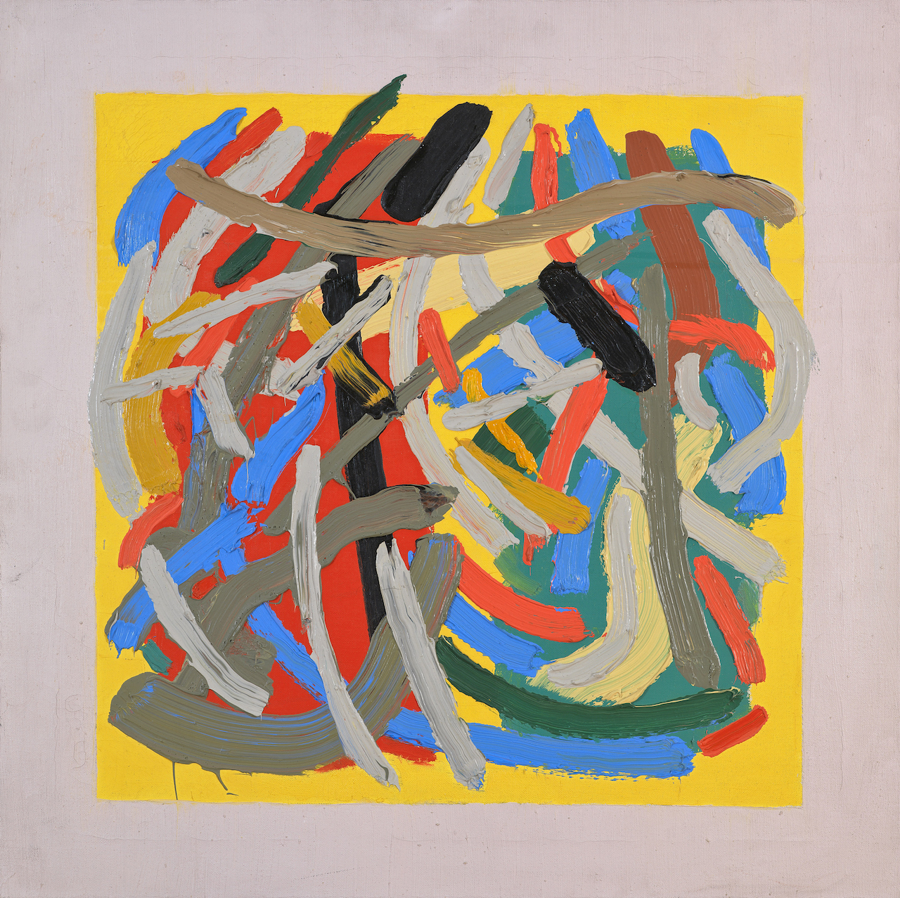 "John Ferren, ""Dance"" (1962), oil on canvas, 22 x 22 inches"