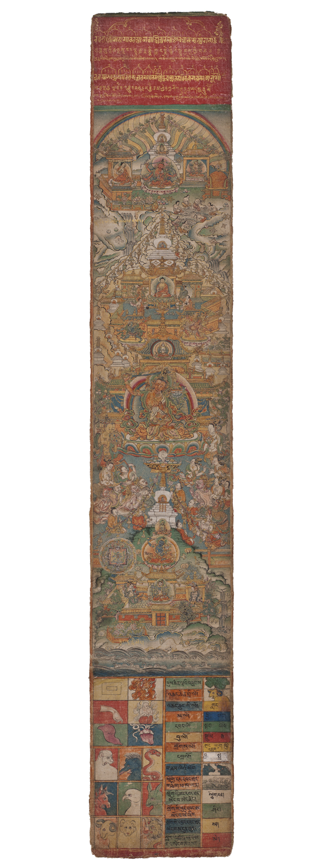'White Beryl,' Sakya, Tibet (mid-18th century), painted by Sonam Peljor (courtesy Rubin Museum of Art)