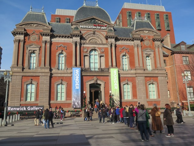The entrance to the Renwick Gallery (all photos by the author for Hyperallergic)