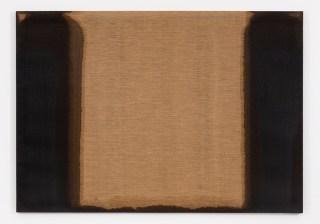 """Yun Hyong-keun, """"Umber-Blue"""" (1978), oil on linen, 25 13/16 x 31 7/8 in. (courtesy Blum & Poe)"""