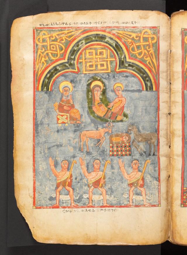 Nativity Scene_Ethiopian Illuminated Gospel