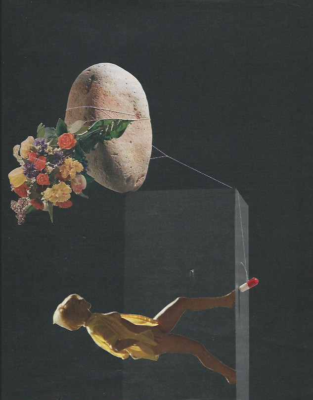 """Dara Cerv, """"The Hardest Thing about it is the Guesswork,"""" paper, glue, 8.5 x 11 inches (image courtesy the artist)"""