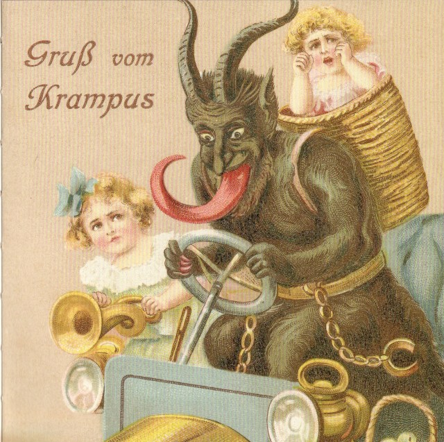 A Krampus Christmas card (via Tea Tree Gully Library)