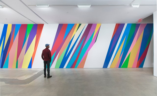 Installation view, 'Odili Donald Odita: The Velocity of Change' at Jack Shainman Gallery