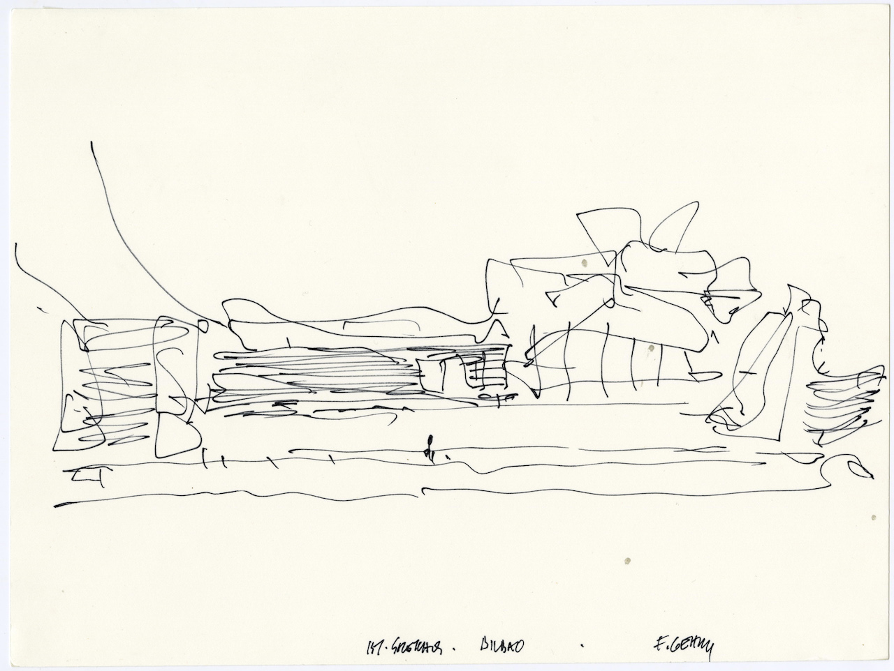 The Freeform Scribbles That Give Rise To Frank Gehry S
