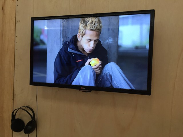 "Kolatt, ""Apple"" (2015), installed at the Jakarta Biennale 2015"
