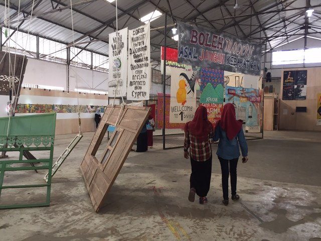 Installation view, the Jakarta Biennale 2015 (all photos by the author for Hyperallergic)