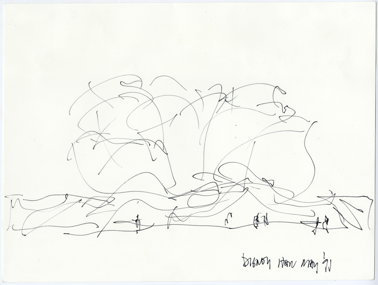 The Freeform Scribbles that Give Rise to Frank Gehry's