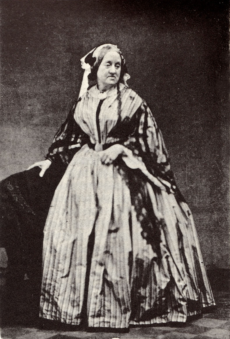 Anna Atkins in an 1861 albumen print (via RPS Yorkshire/Wikimedia) (click to enlarge)