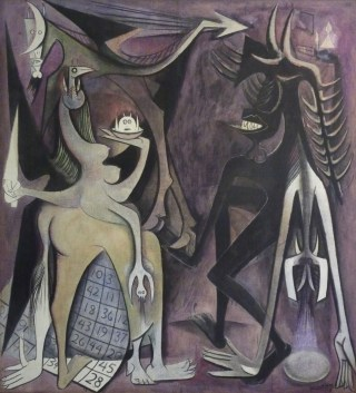 "Wifred Lam, ""Bélial, empereur des mouches"" (1948), oil on canvas, private collection (© Adagp, Paris 2015)"