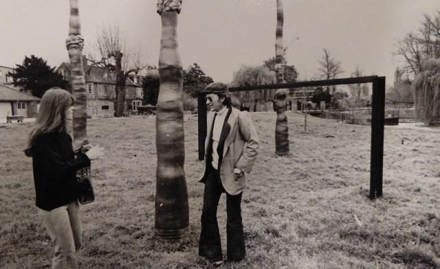 "Barry Flanagan, ""The Cambridge Piece"" (1972), destroyed from vandalism (© Arnolfini)"