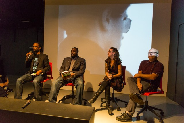 Panel discussion on the original Rainbow Coalition at Slought Foundation