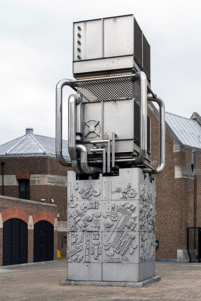Public Sculpture 'London' by Eduardo Paolozzi,1982. Adjacent to Pimlico London Underground Station, London.
