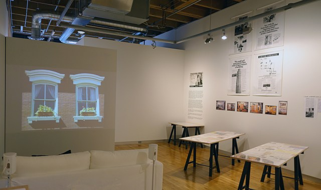 Installation view, 'Martha Rosler: Home Front' at the New Foundation Seattle (click to enlarge)
