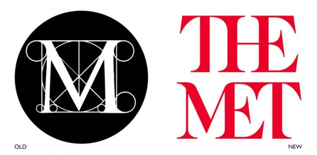 The old Met logo vs. the new one