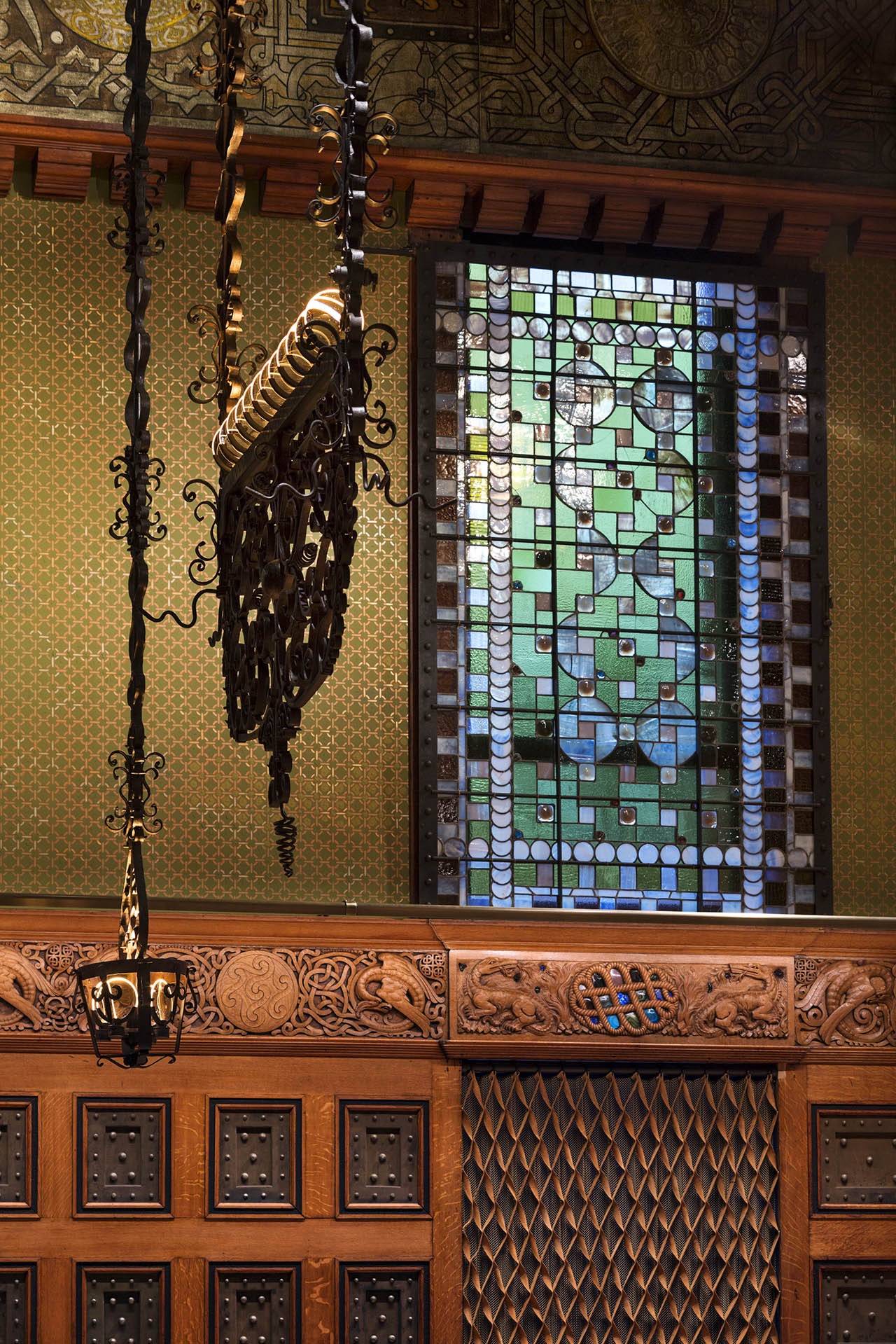 Detail of the restored and revitalized Veterans Room