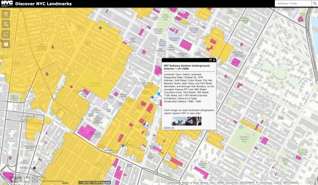 IRT Subway System landmark at Astor Place (screenshot by the author for Hyperallergic)