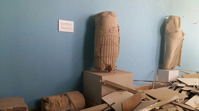 Inside the Palmyra museum (click to enlarge)