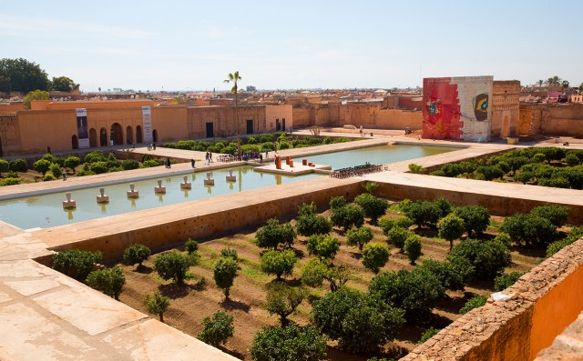 The Palais El Badii, with works installed for the Marrakech Biennale 6 (photo courtesy Marrakech Biennale 6, © Jens Martin)