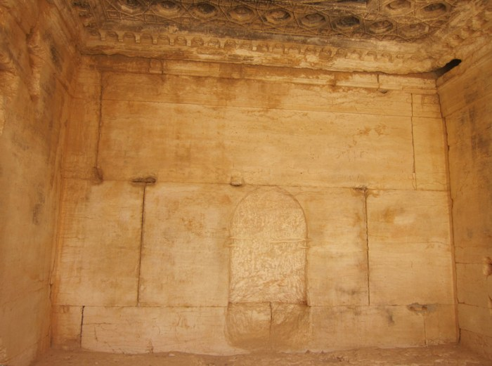 South chamber of Temple of Bel with mihrab (photo by Sean Leatherbury/Manar al-Ahtar)