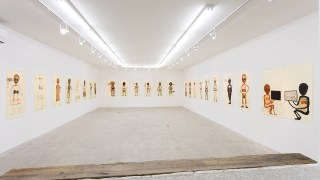 Installation view, 'Mira Schor: Death Is a Conceptual Artist' at Lyles & King (all images courtesy Lyles & King) (click to enlarge)