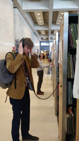 Listening to the stacks in 'Archives of Sound' (courtesy NYPL)
