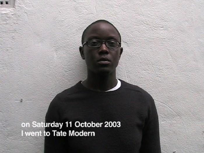 """A video still from """"A short video about Tate Modern"""" (2003) by Emma Wolukau-Wanambwa"""