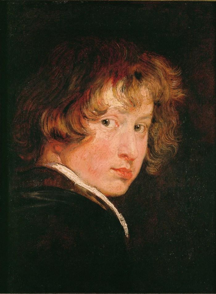 """Anthony van Dyck, """"Self-Portrait"""" (c. 1613–15), oil on panel, Gemäldegalerie der Akademie der bildenden Künste, Vienna"""
