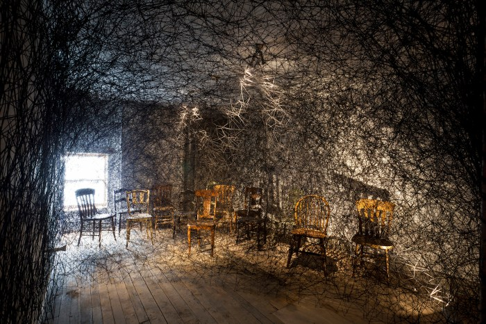 Installation view of Chiharu Shiota's 'Trace of Memory' at the Mattress Factory (all photos courtesy of the Mattress Factory)