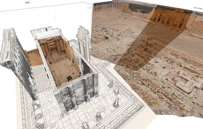 Restitution 3D du Temple de Bel_Iconem