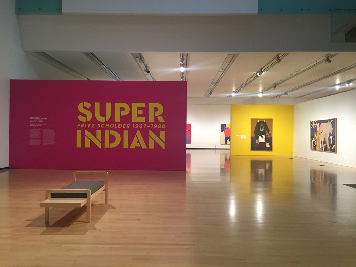 Installation view, 'Super Indian: Fritz Scholder, 1967–1980' at the Phoenix Art Museum (all photos by the author for Hyperallergic) (click to enlarge)