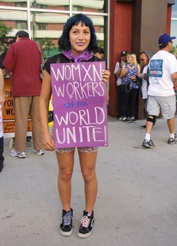 """Andrea Bowers, """"Triumph of Labor"""" (via vielmetter.com)"""