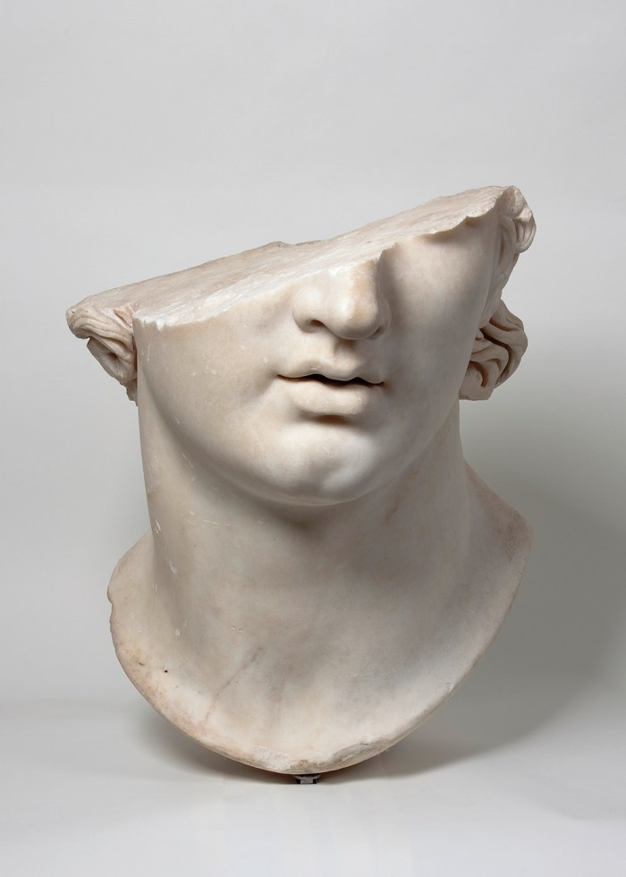 Fragmentary Colossal Head of a Youth (Hellenistic period, 2nd century BCE), marble (© SMB / Antikensammlung)