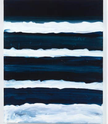 """Mary Heilmann, """"Night Swimmer"""" (1998), oil on canvas (©Mary Heilmann, photo by Thomas Müller; courtesy of the artist, 303 Gallery, New York, and Hauser & Wirth)"""