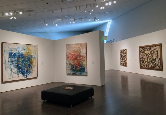 Works by Joan Mitchell (left) and Lee Krasner (right)