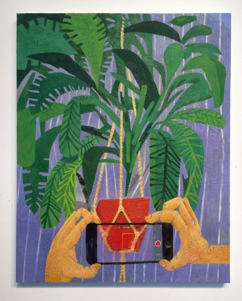 "Paul Gagner, ""Muta Domum Herba"" (2016), oil on canvas"