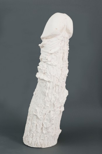 Sarah Lucas WHITE NOB 2013 Plaster 43 1/2 x 12 1/2 x 11 inches 110.5 x 31.8 x 27.9 centimeters IMAGE CREDIT: Courtesy Gladstone Gallery
