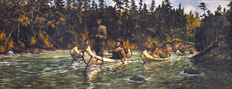 """Cal Peters, """"French Trappers on the Red Cedar"""" (courtesy UW-Stout)"""