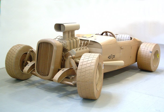"Chris Gilmour, ""Ford"" (2006), cardboard and glue, dimensions variable"