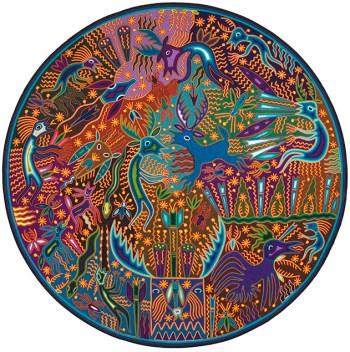 """José Benítez Sánchez """"Untitled"""" (2005), Acrylic yarn, beeswax, wood (via fowler.ucla.edu)"""