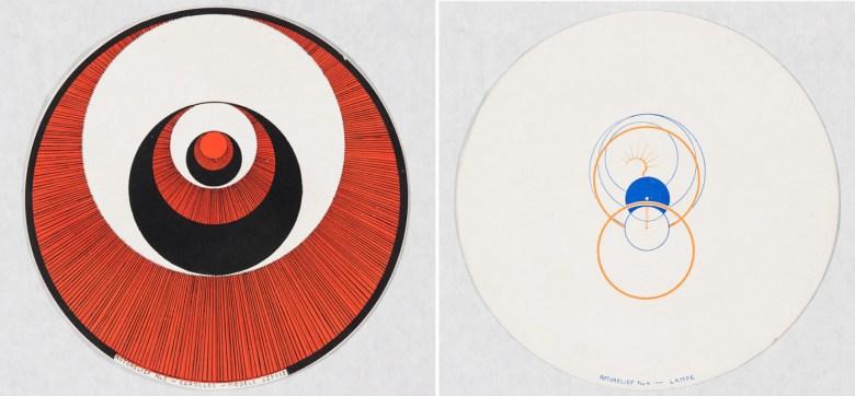 """Marcel Duchamp, """"Rotorelief No. 4 – Lampe"""" (verso) (1935)"""