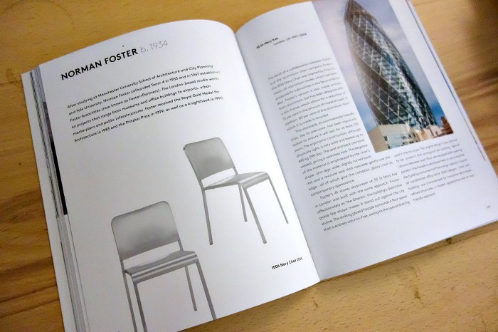 Pages from 'Chairs by Architects' (photo of the book for Hyperallergic)