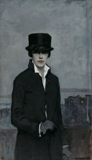 """Romaine Brooks, """"Self-Portrait"""" (1923), oil on canvas, Smithsonian American Art Museum, gift of the artist (click to enlarge)"""
